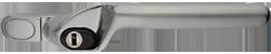 Crank handle brushed aluminium