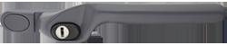 Crank handle slate grey
