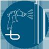 Durable powder coating icon