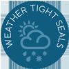 Weather tight seals icon