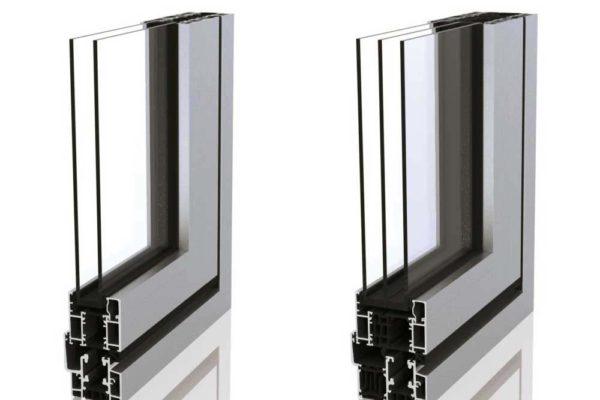 Sunflex bi folding door sf55 double and triple glazed profile