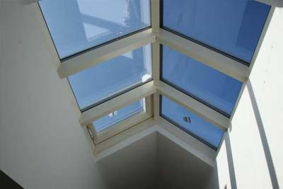 Double pitched roof lights 1