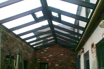 Double pitched roof lights 2