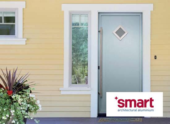 Aluminium single front back doors shaws