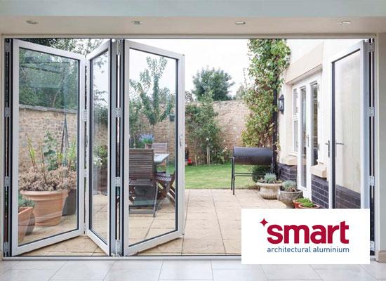 Diamond glass windows smarts visofold 1000 bi folding door