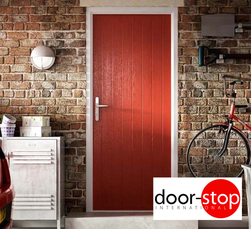 Door stop composite fire door