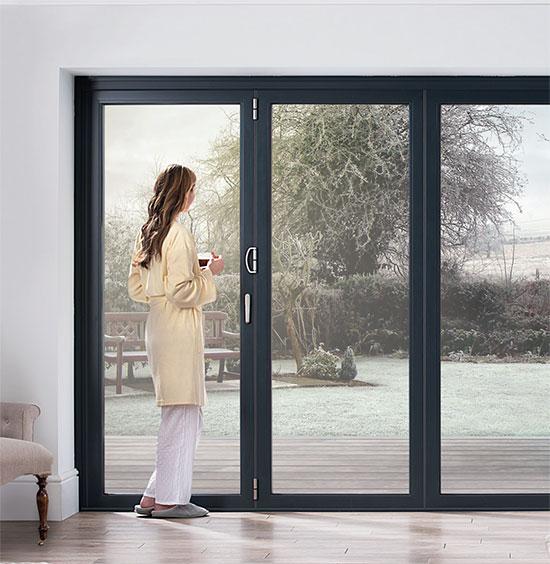 Ob 49 door with woman winter title=
