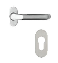 Solid stainless steel handle with separate escutcheon 251 280 for residence doors and windows