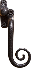 Elegance black monkey tail handle for residence doors and windows