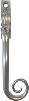 Vintage monkey tail satin chrome for residence doors and windows