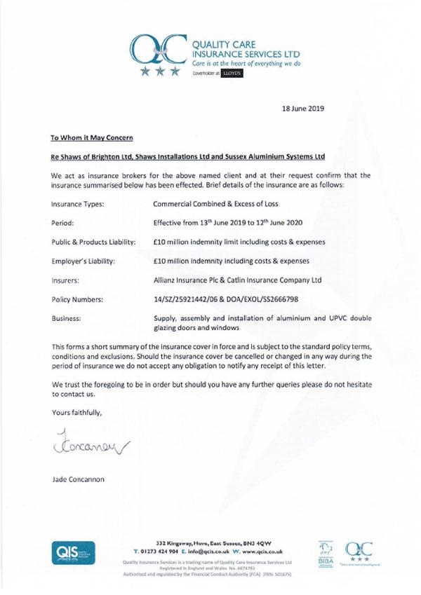 Confirmation letter 19 20