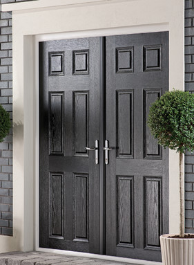Apeer traditional composite french doors