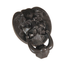 Lionshead knocker antique black