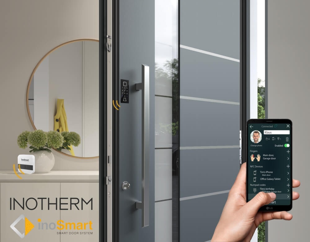 Inotherm aluminium entrance doors