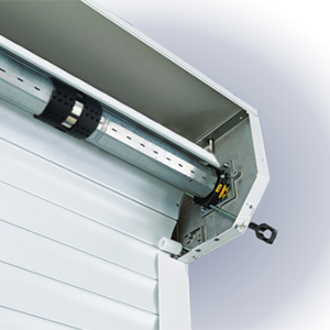 Space saving roller door title=