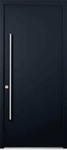 black solid apeer-door